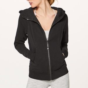 Lululemon Black Hooded Scuba Zip Sweater Jacket 2